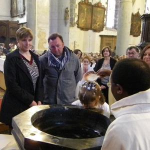 baptême d'enfant en 3ème année de catéchisme