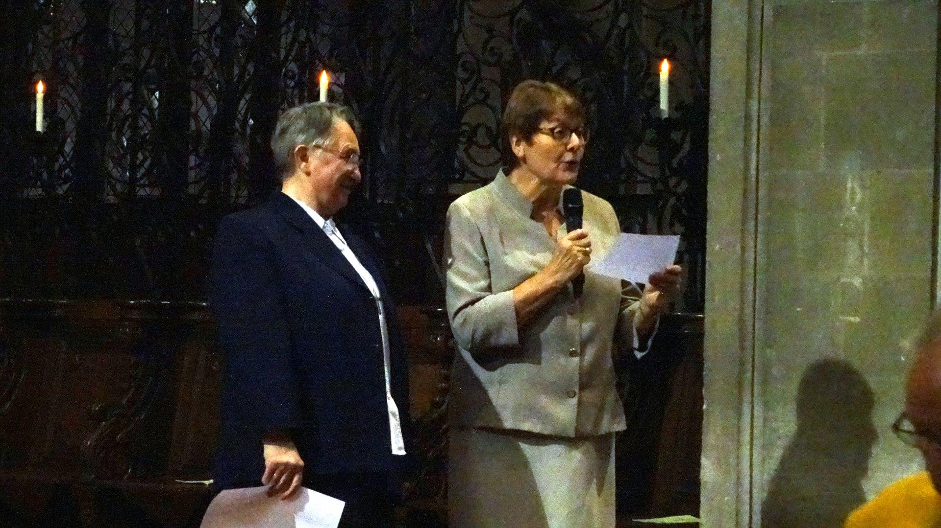 accueil de la paroisse par Marie-Agnès