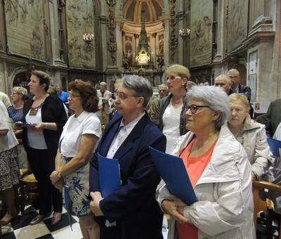Sœur Edith-Marie membre de la chorale