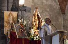 Le père André détaille cette belle icône du fils pardonné.