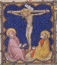 christ en croix enluminure 2 bnf