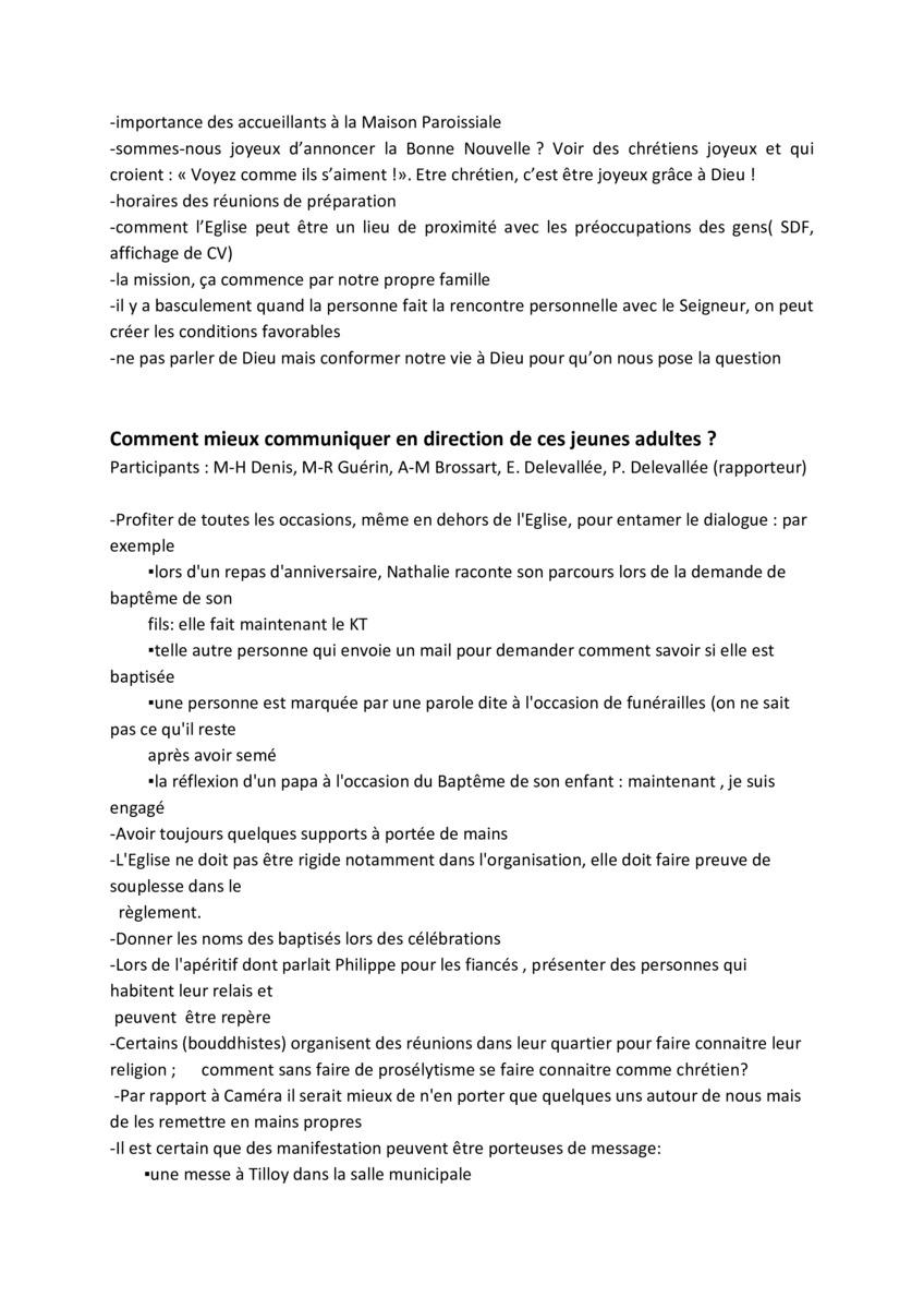 Compte Rendu De La Reunion Du Conseil De Doyenne