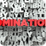 NOMINATIONS -  Red text on typography background -