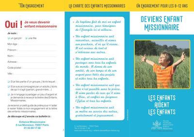 Depliant Enfance missionnaire 2017 Recto
