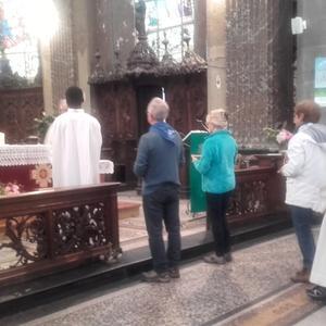 02 La messe avec les marcheurs