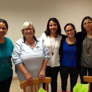 Elma, Marite, Rosana, Fabienne et Ariane