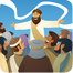 Jesus and Crowd