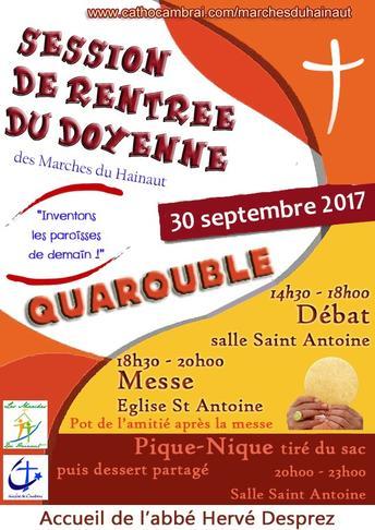 Affiche Rentree du Doyenne 2017