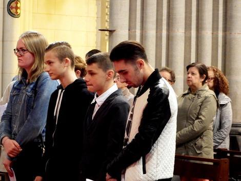 Quatre nouveaux catéchumènes à la basilique