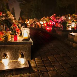 cemetery, dark, night