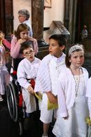 la procession des futurs baptisés