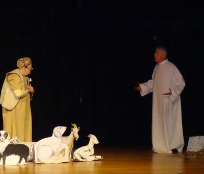 """""""Bergers, laissez vos troupeaux ! Venez voir le Seigneur qui est né ! couché dans une étable..."""