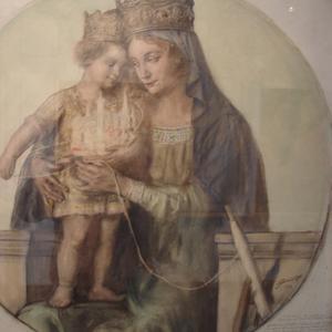 la Vierge à l'enfant debout. par Lucien Jonas