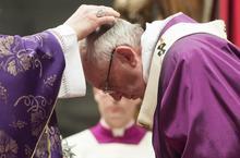 Pape François reçoit les Cendres