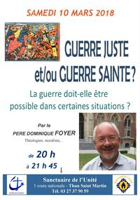 Conference  Pere Dominique FOYER - GUERRE JUSTE GU