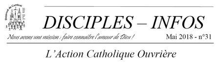 Disciples infos mai