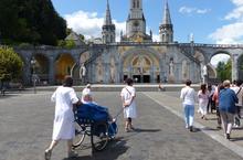 Lourdes2018-photos passage grotte (1)