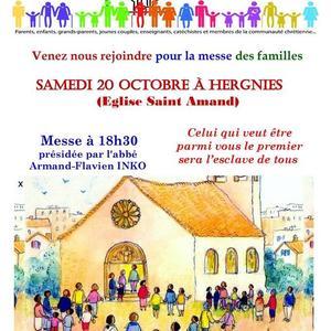 Affiche messe des familles