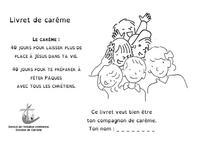 Couv Livret Careme Enfants 2019 N&B