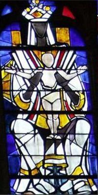 @Vitrail mère enfant Jésus - Notre Dame de Liesse