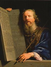 Moïse présentant les tables de la loi, vers 1648.