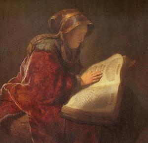 Anne lisant la Bible001