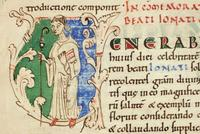 saint Jonat, libellus abbaye de Marchiennes (XIeme