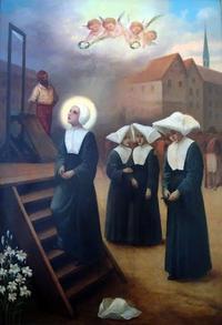 Martyre des filles de la charite  a Cambrai en 179