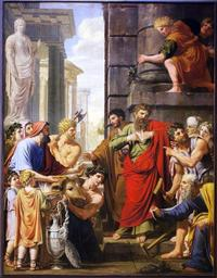 Paul et Barnabe a  Lystres Michel I Corneille