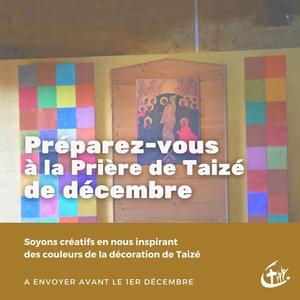 preparation prière taizé décembre 2020