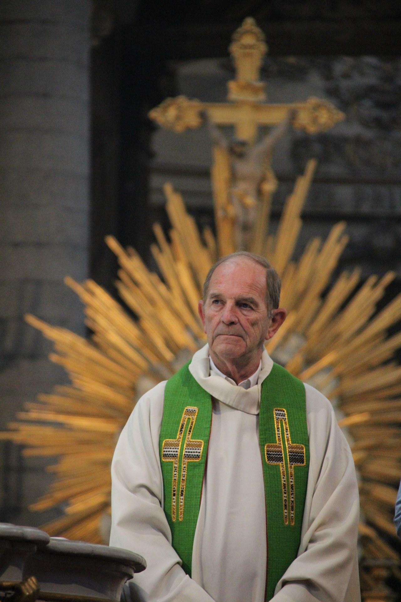 L'abbé Xavier Bris, vicaire général.