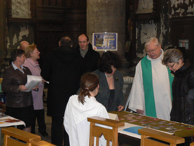accueil, messe de St Valentin, 13 fev 2011