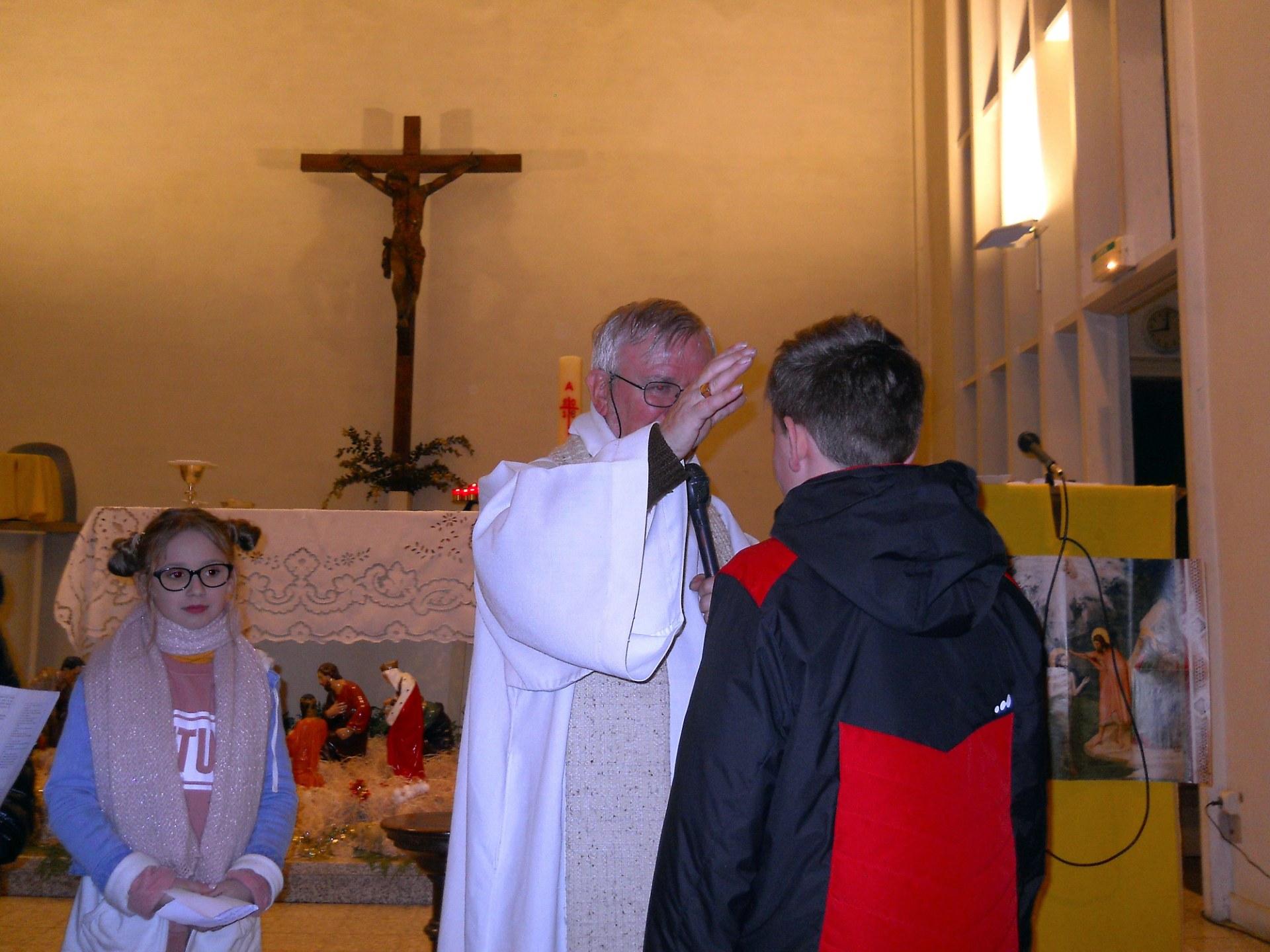 Accueil de la demande de baptême de Louis