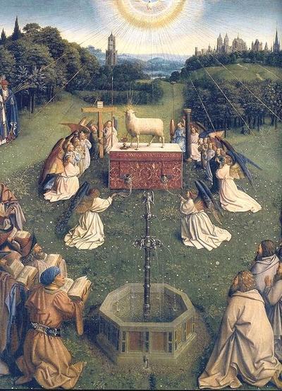 Adoration Agneau de Dieu Jan van Eyck