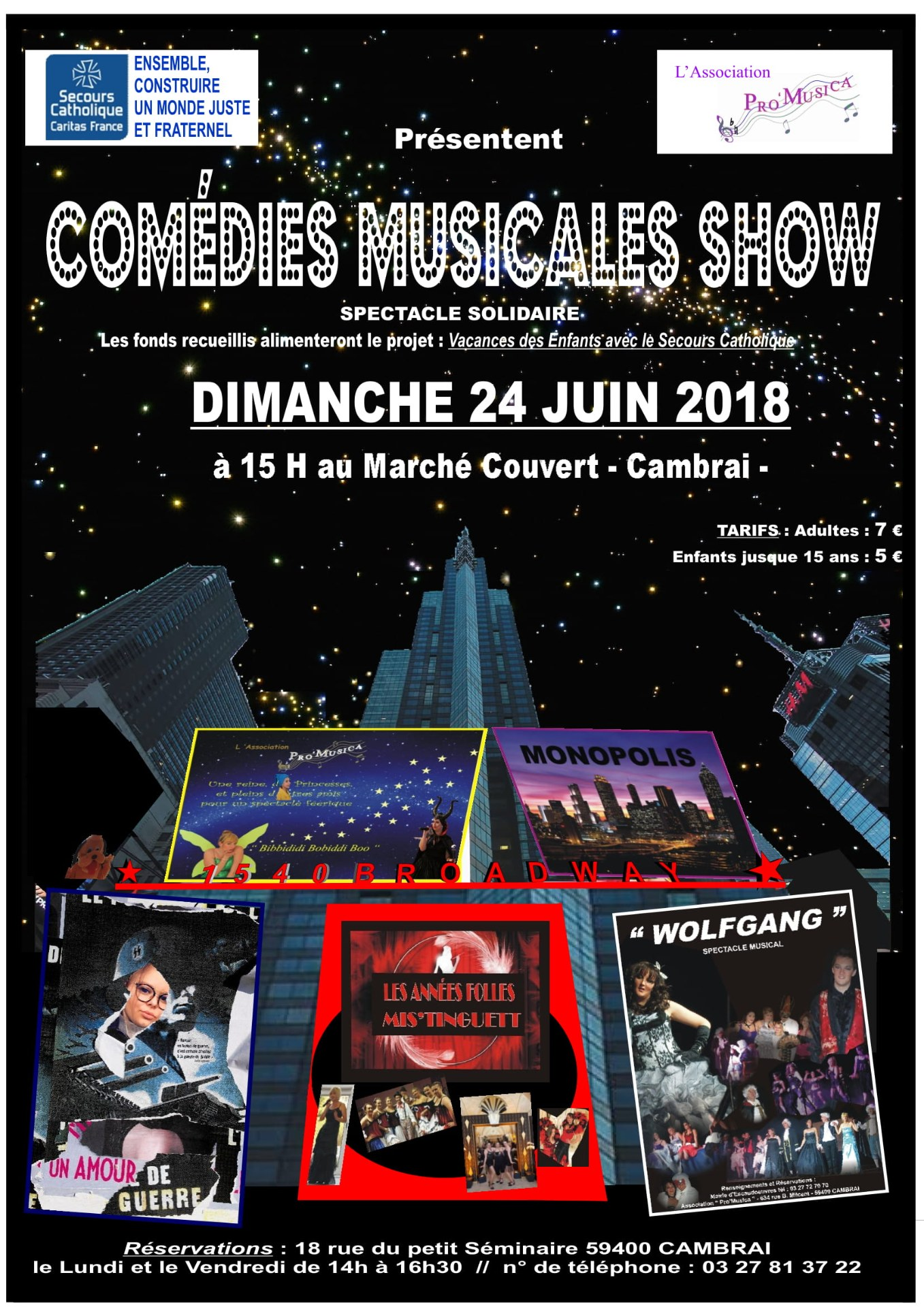 Affiche comedies musicales show 24 juin 2018
