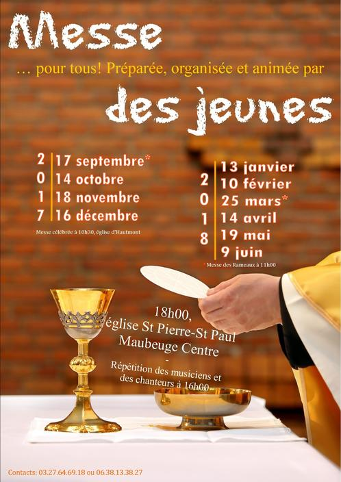 Affiche messe jeunes 2017-2018 (VERSION 2)
