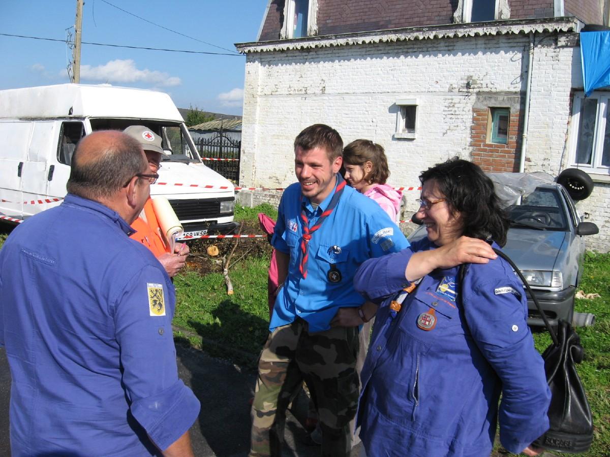aide aux sinistrés d'Hautmont