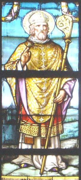 Den hellige Amatus, glassmaleri i kirken Saint-Jacques i Douai
