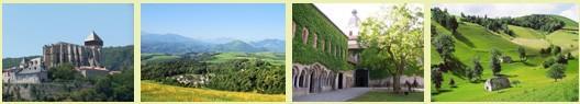 Ariège paysage - chemin du Pièmont