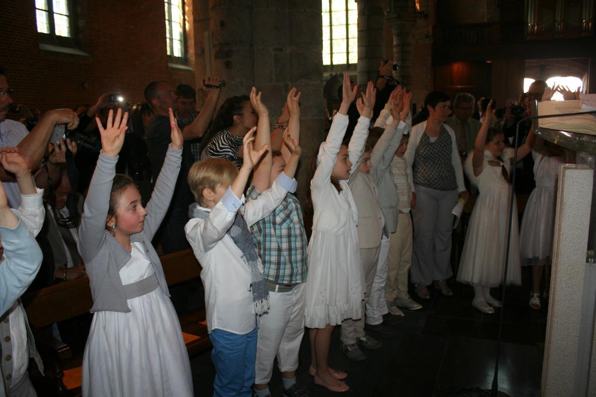 Au début de la messe.