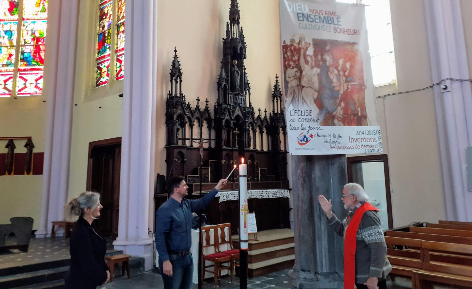 Benediction du cierge pascal 13.05.2020 Aniche