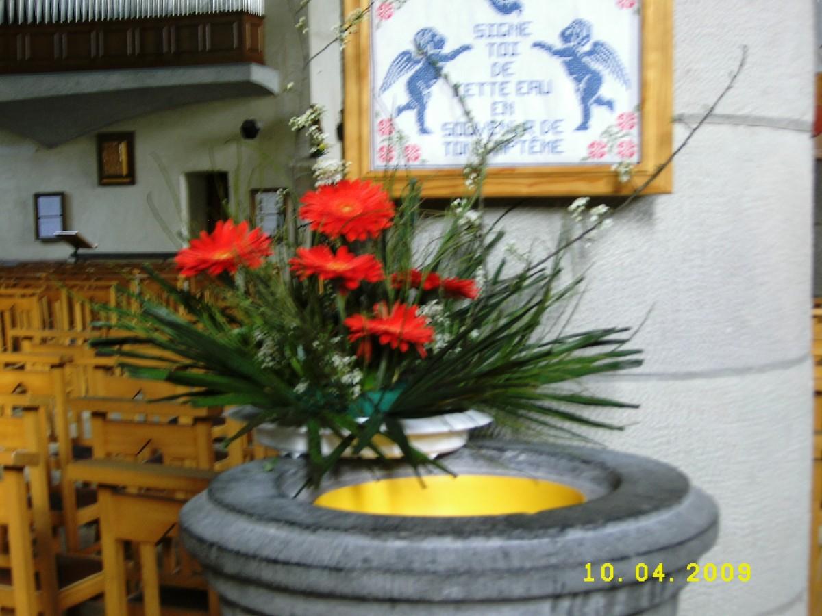 bouquet au bénitier