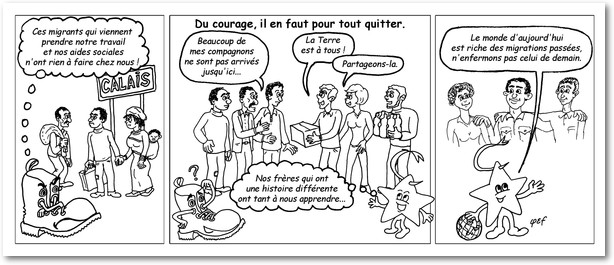 Camerino et les Migrants N&B v3