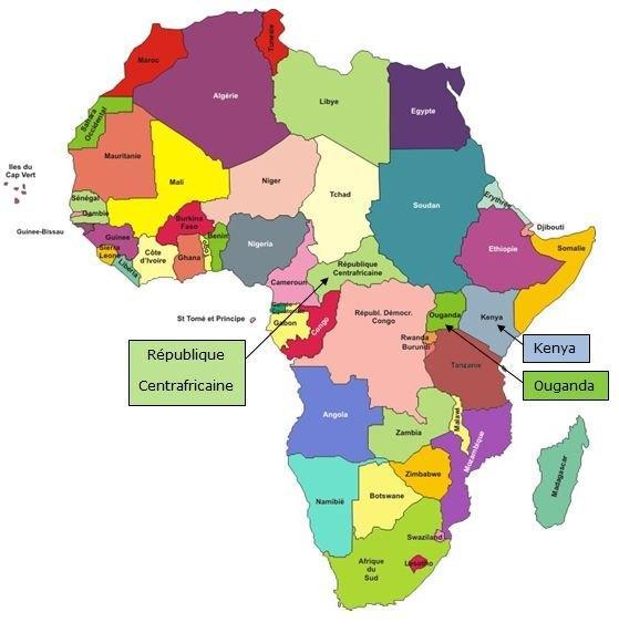 Carte Afrique Ouganda.Le Pape Francois Au Kenya En Ouganda Et En