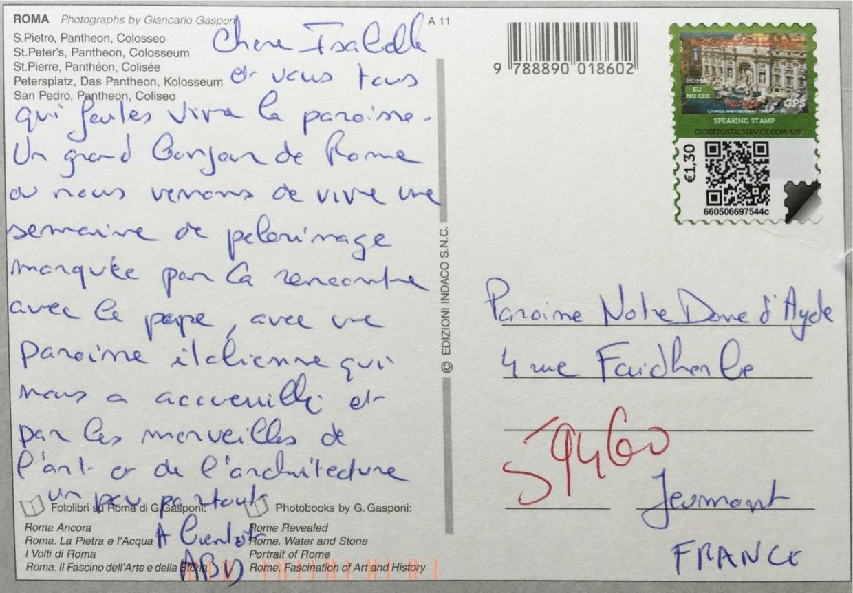Carte Postale Rome 2