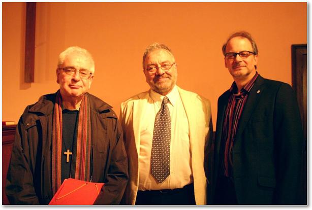 Père J-M Telle et les pasteurs F Dietz et J Dias