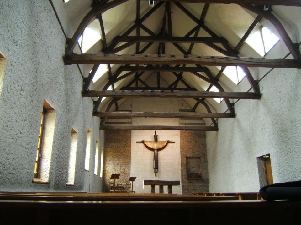La chapelle de l'abbaye, au décor très simple...