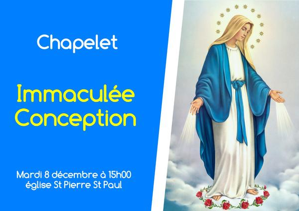 chapelet immaculee conception