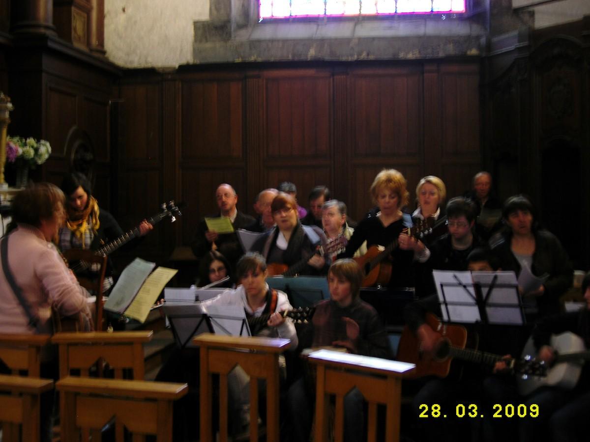 la chorale à Pont
