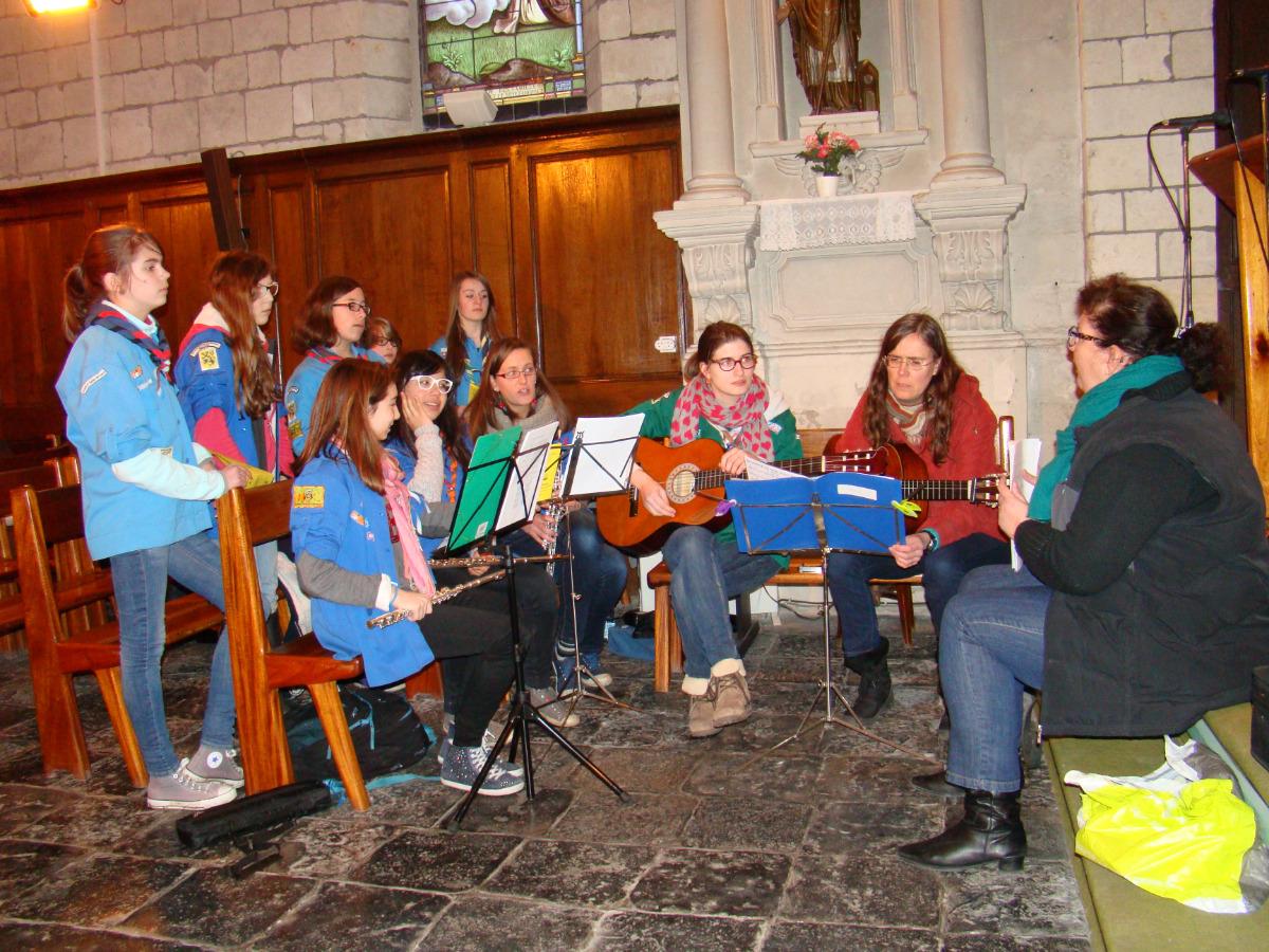 Chorale en répétition